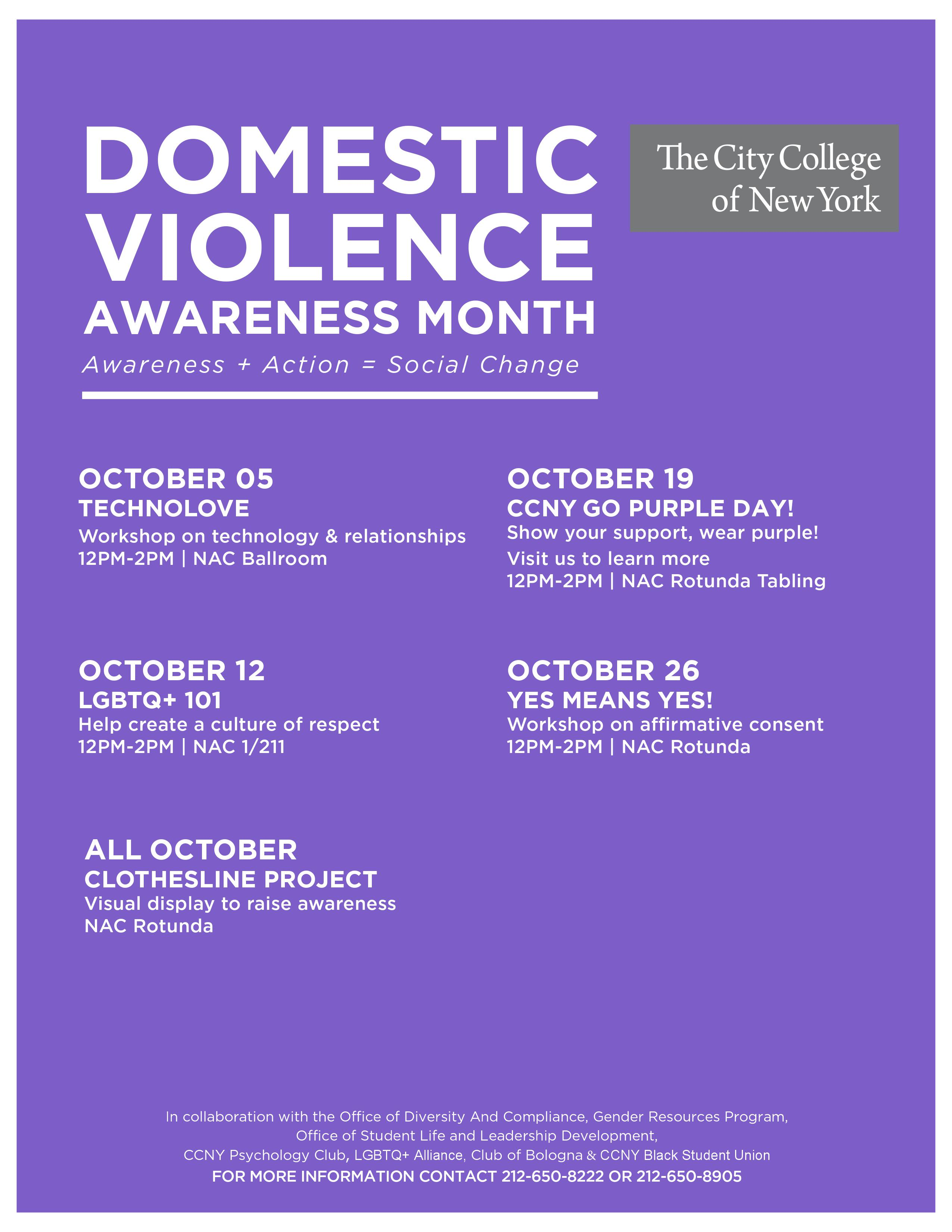 Domestic Violence Awareness Events