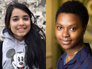 CCNY's latest Benjamin A. Gilman International Scholars, from left, Seher Ali and Oneika Pryce.