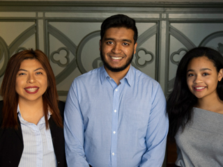 The third cohort of University Innovation Fellows: (from left) Skavi Ballinas, Ahsanul Abeer and Gabriela Gonjon.