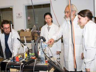 PIRE Project leader Masahiro Kawaji  with CCNY Grove School of Engineering PhD students
