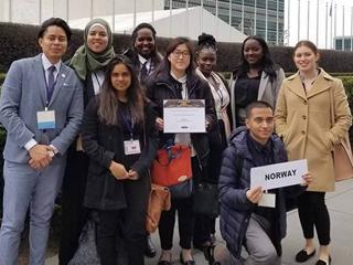 CCNY's 2018 Model UN team.