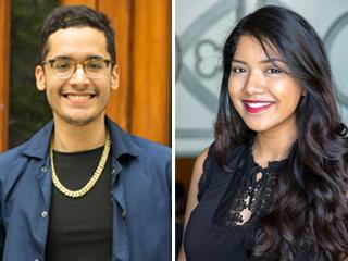 Kevin Gonzalez and Anan Kazi are Salk Scholars