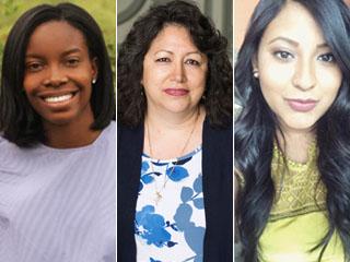 three of CCNY's 2018 Gilman summer scholars