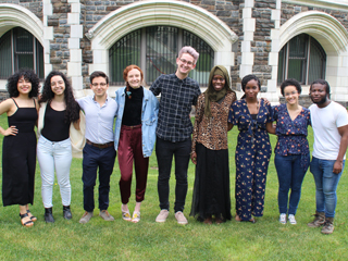 CCNY student reporters (left to right) Greta Mantilla, Radhamely De Leon, Philip Laudo, Katie Herchenroeder, Michael Ailes, Maty Drame, Tajae Hinds, Sonyi lopez, Austin Steele (Not pictured: Anthony Viola)