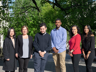 CCNY's 2019 Mellon Mays Fellows with the college's program director