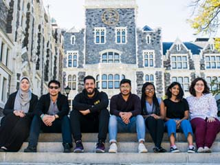 Seven of CCNY's eight Chicago-bound Clinton Fellows