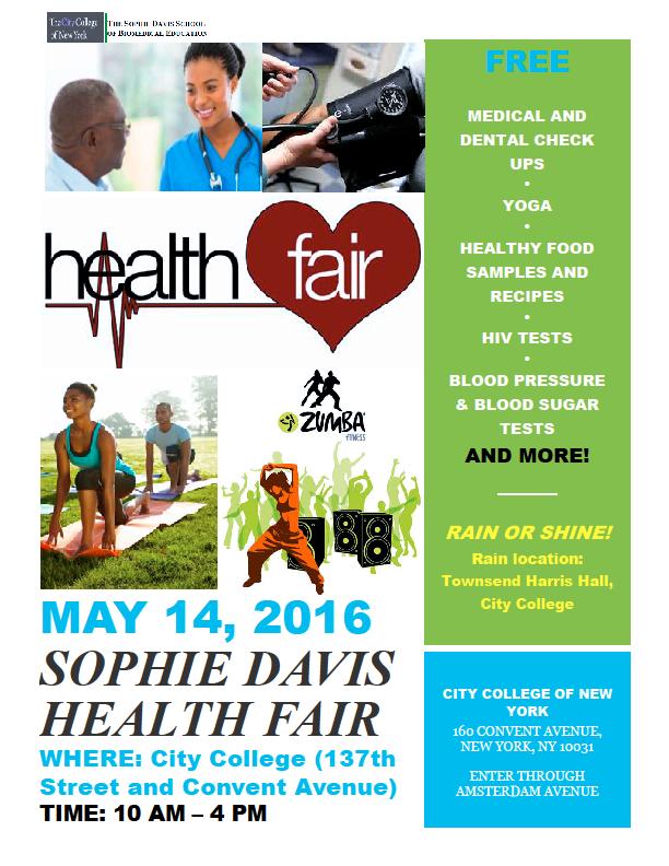 Annual Sophie Davis Community Health Fair