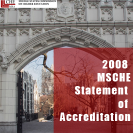 2008 MSCHE Statement of Accreditation