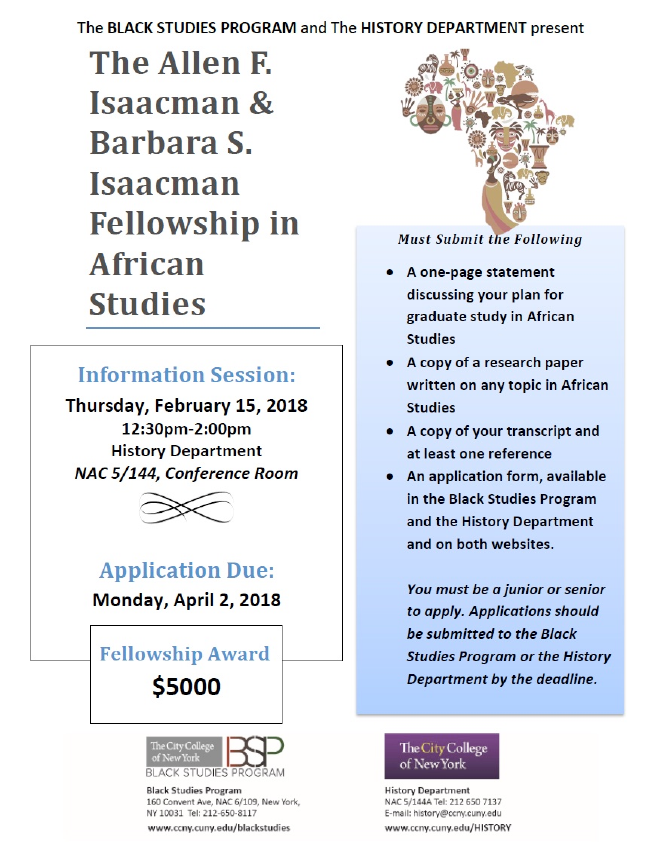 The Isaacman Fellowship in African Studies