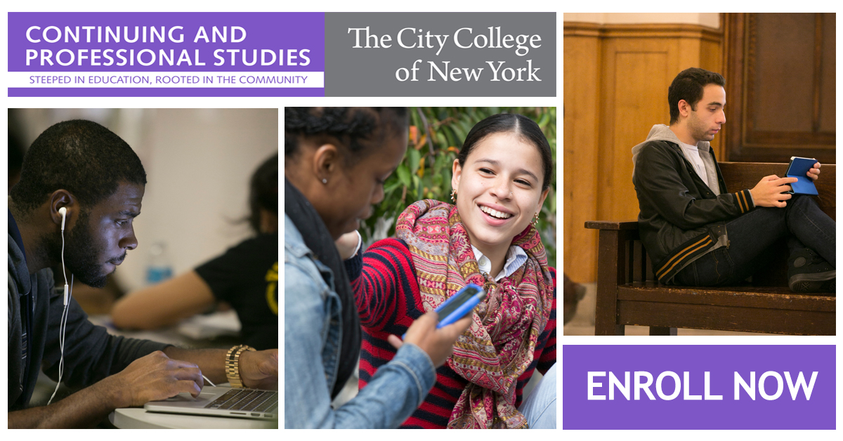 Enrollment ad for CCNY CPS