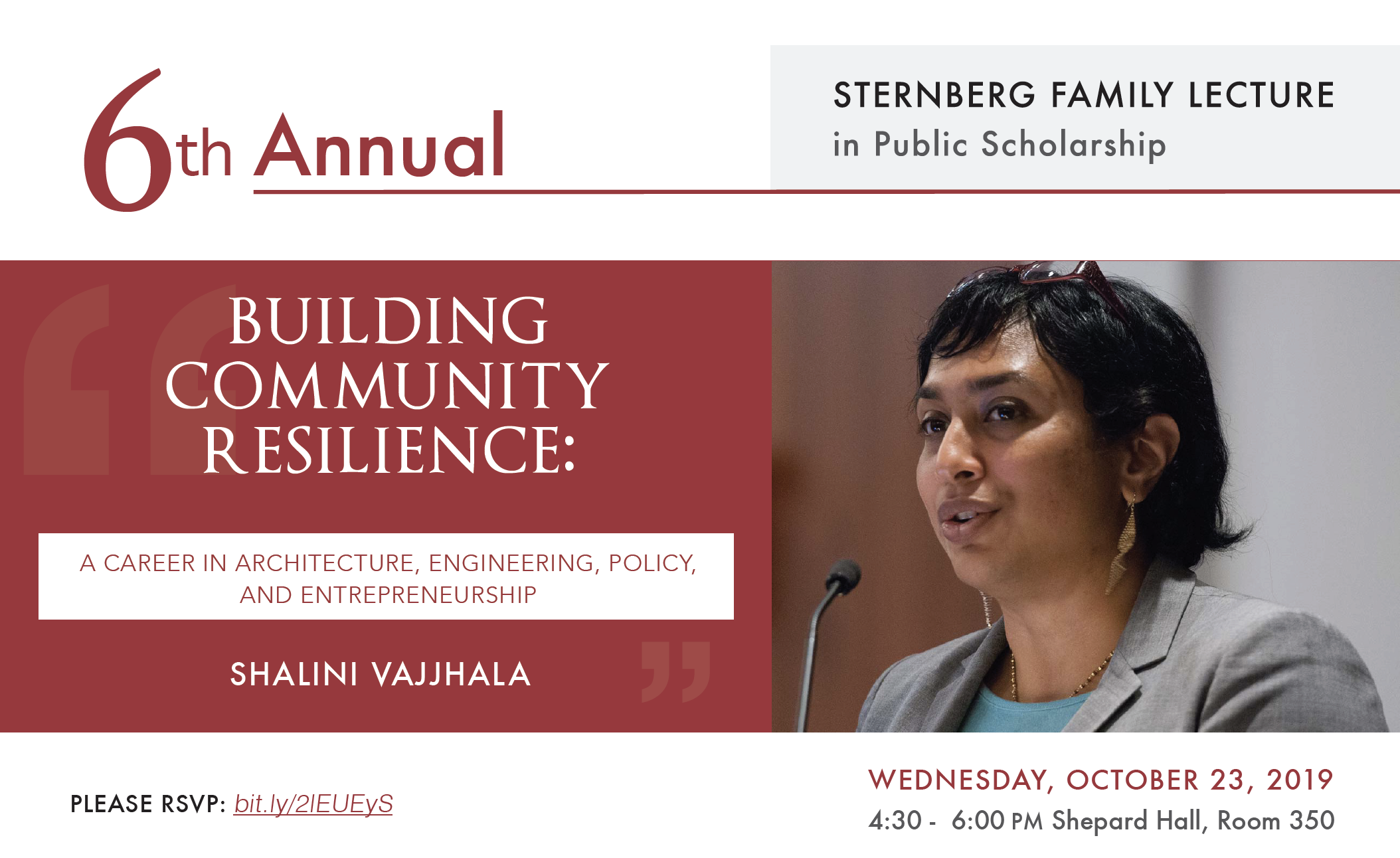 The Colin Powell School Presents the 6th Annual Sternberg Family Lecture in Public Scholarship