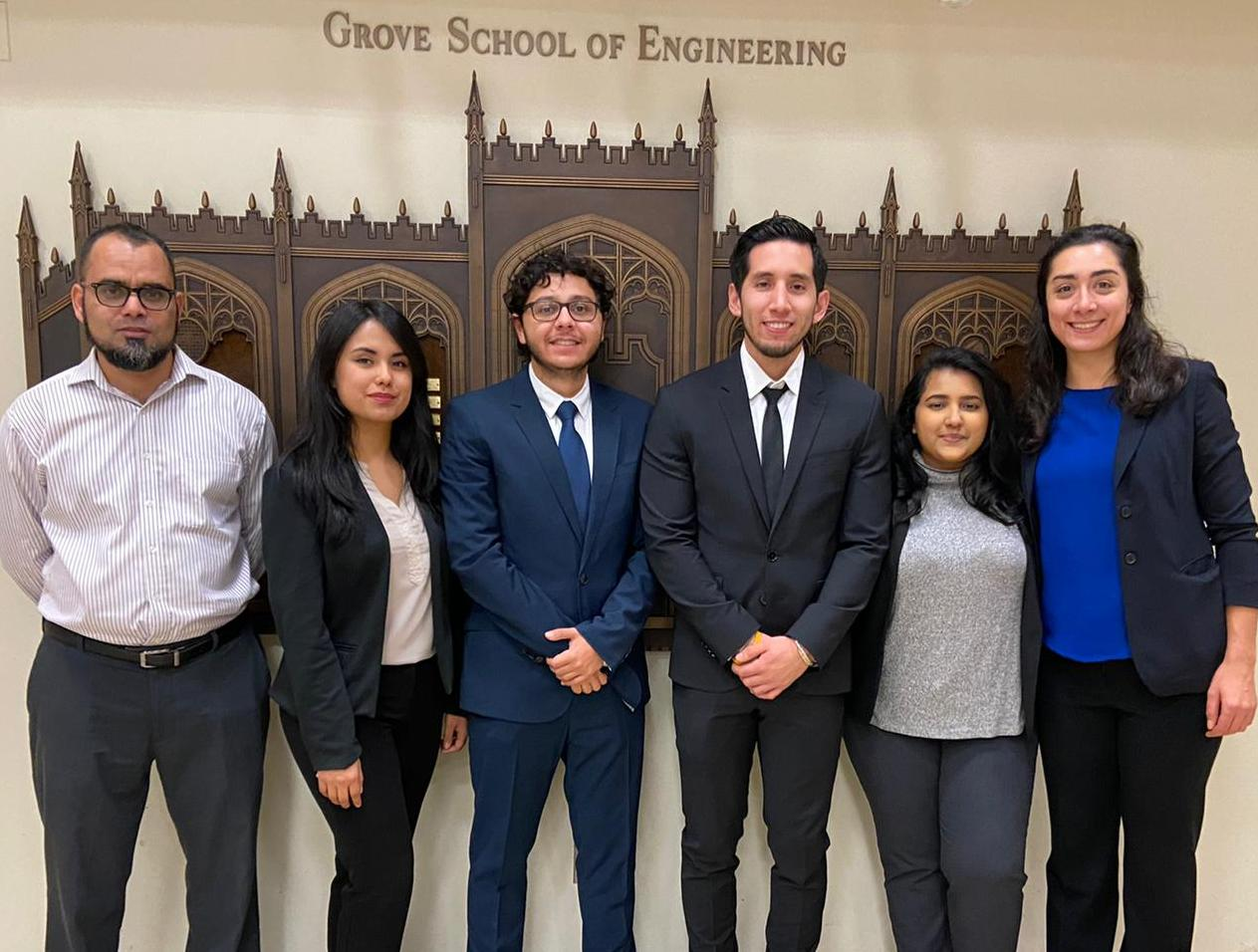 CCNY student team that placed first in the AIAA Design-Build-Fly 2020 competition.