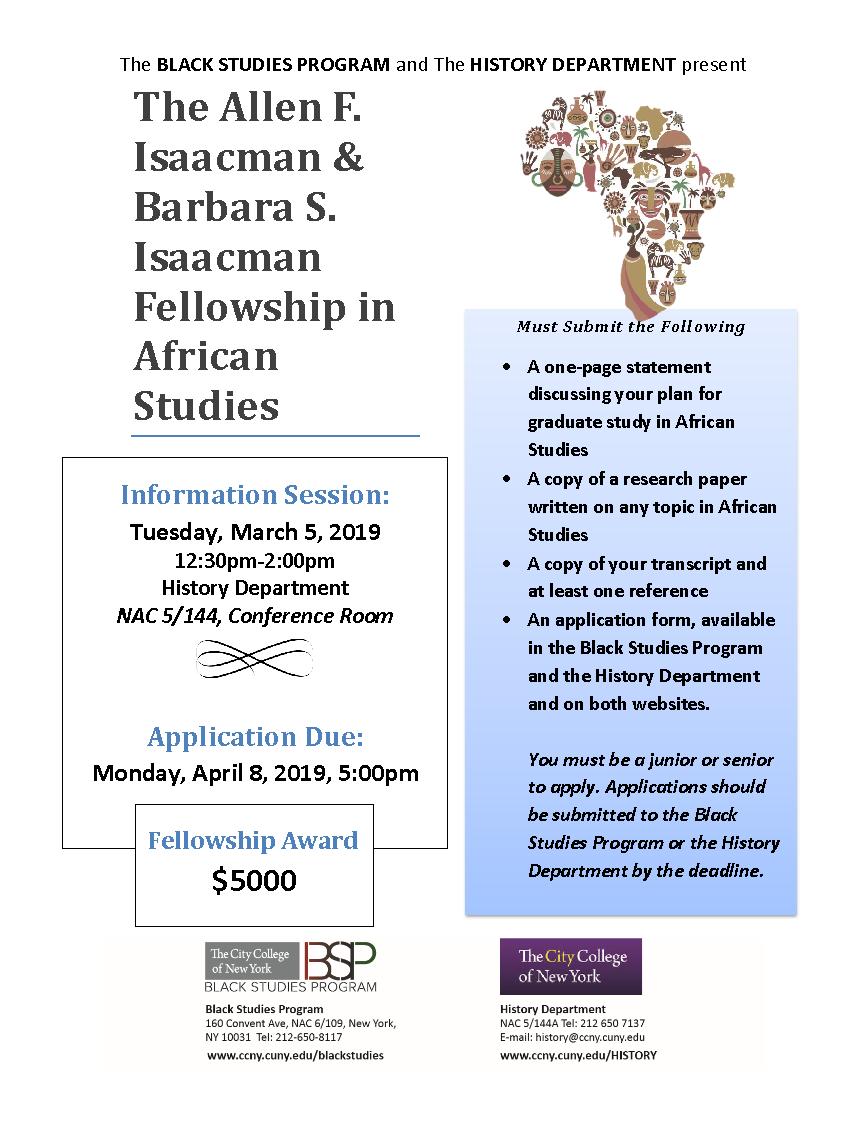 Isaacman Fellowship in African Studies 2019