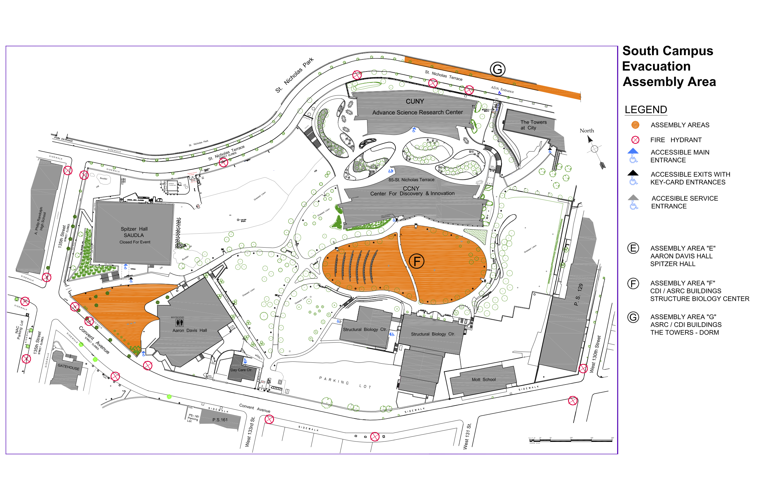 Campus Map - Assembly Areas - South Campus