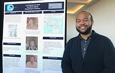 CCNY student Kendrick Zapata, a 2019 Stanford/CCNY summer research scholar, presents research on Las Mujeres de Abril