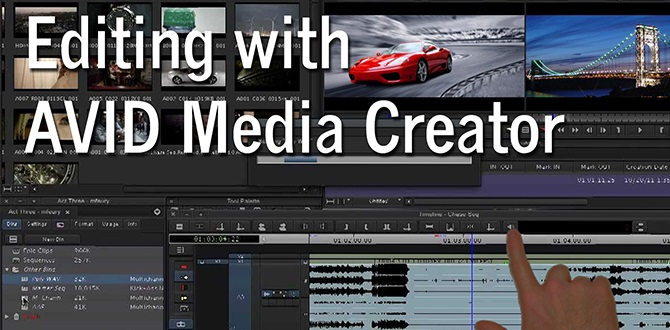 Editing with AVID Media Creator - banner
