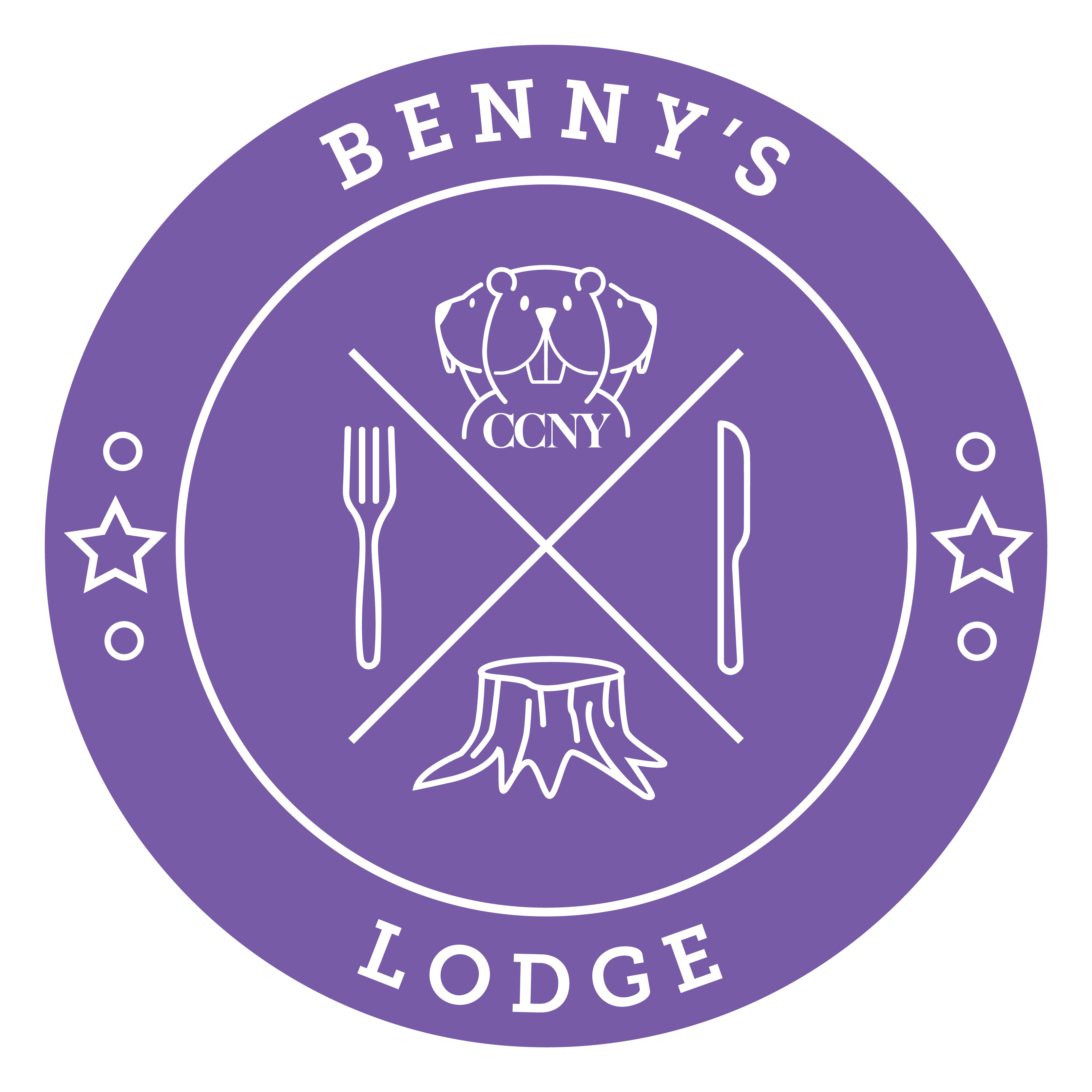 New student dining logo - Benny's lodge logo