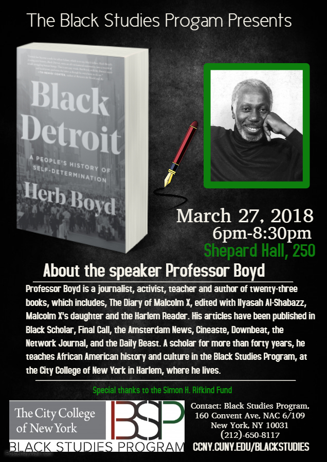 Book signing by Herb Boyd - Black Detroit