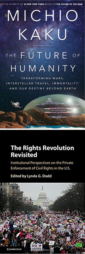 Forthcoming titles by CCNY faculty Michio Kaku and Lynda G. Dodd
