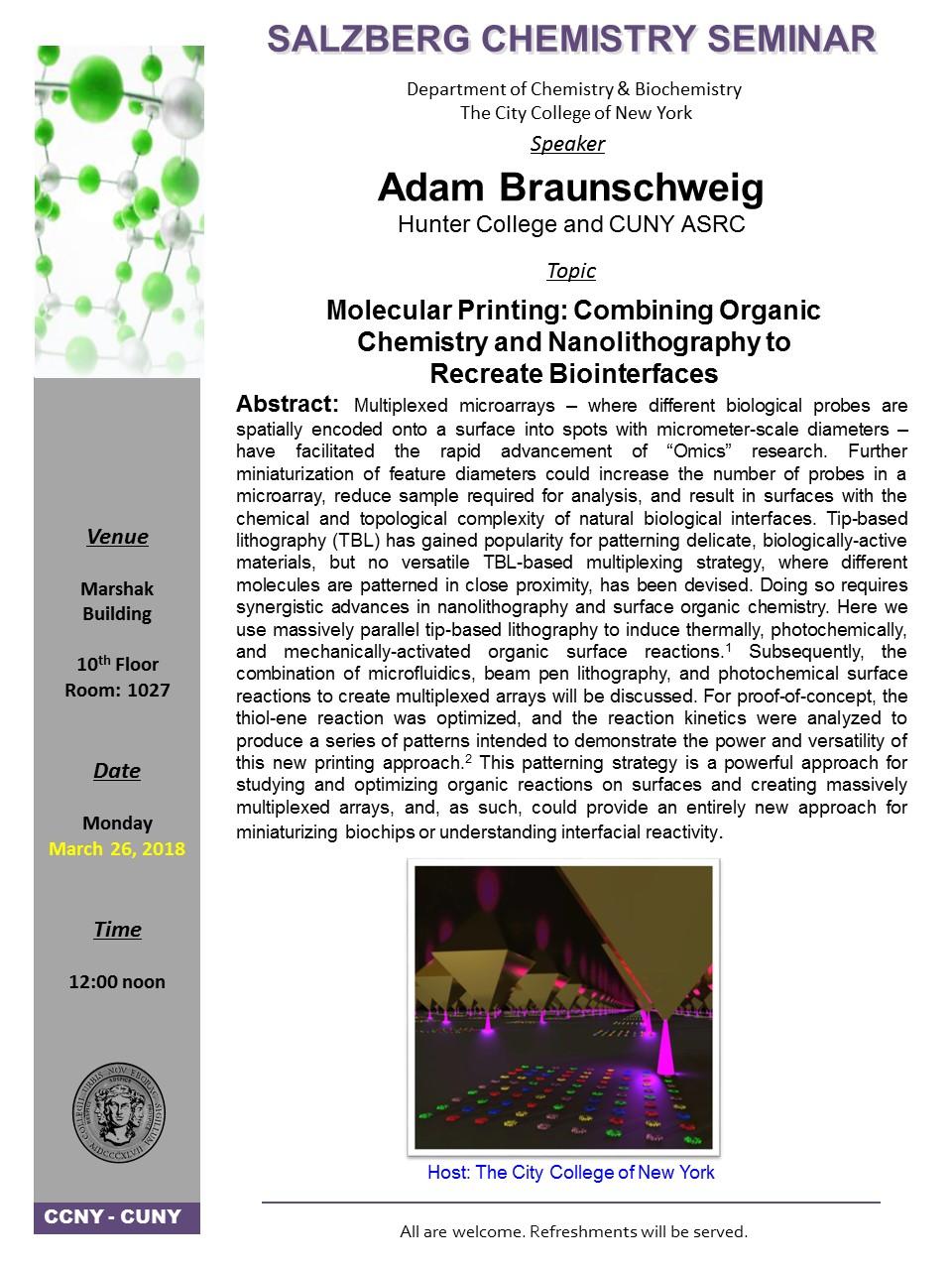 Salzberg Chemistry Seminar - Braunschweig, March 26, 2016
