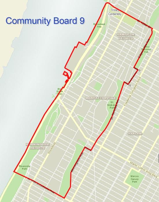 Community Board 9 coverage area