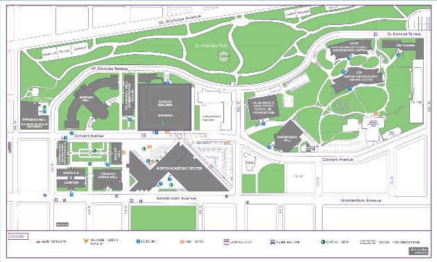CCNY Campus Map Landscape 2017_resized. | The City College of