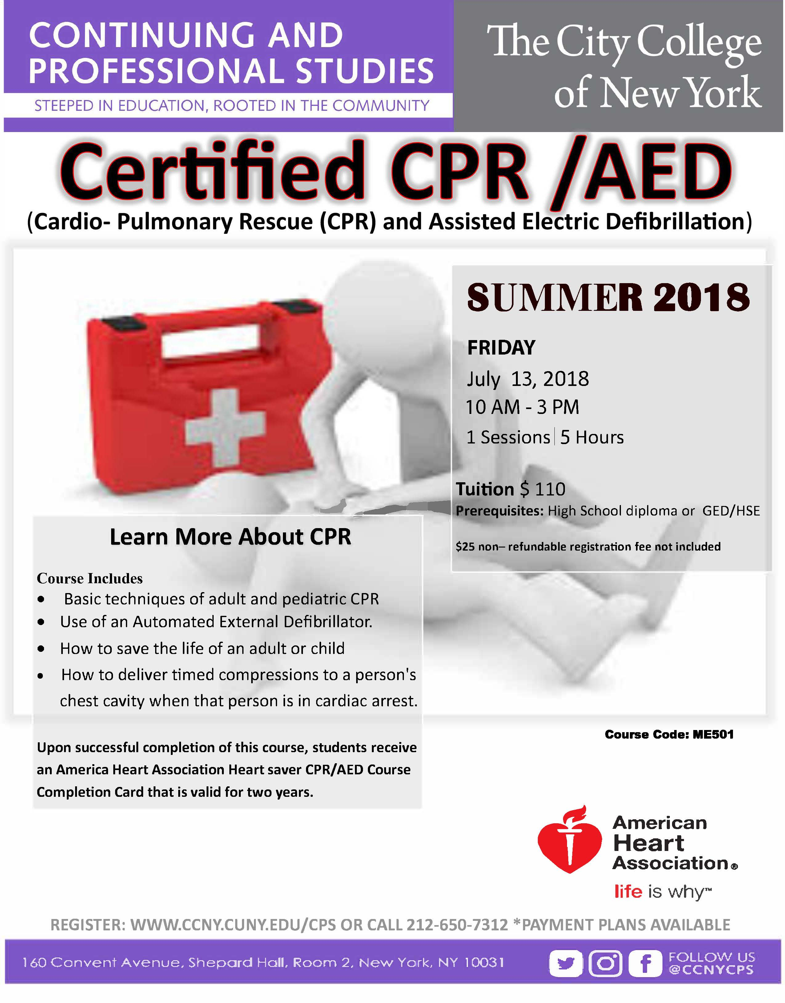Cpr And Aedg The City College Of New York