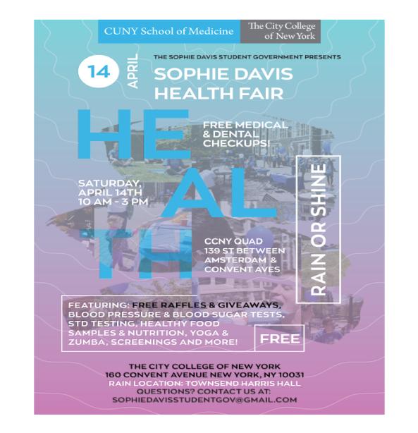 Sophie Davis Health Fair