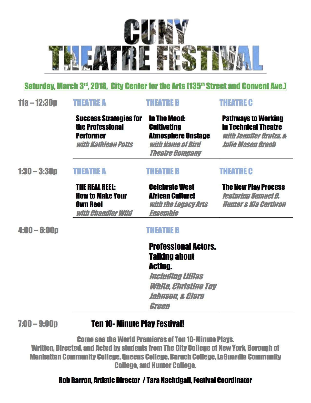 CUNY Theatre Festival 2018
