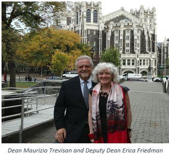 Dean Maurizio Trevisan and Deputy Dean Erica Friedman