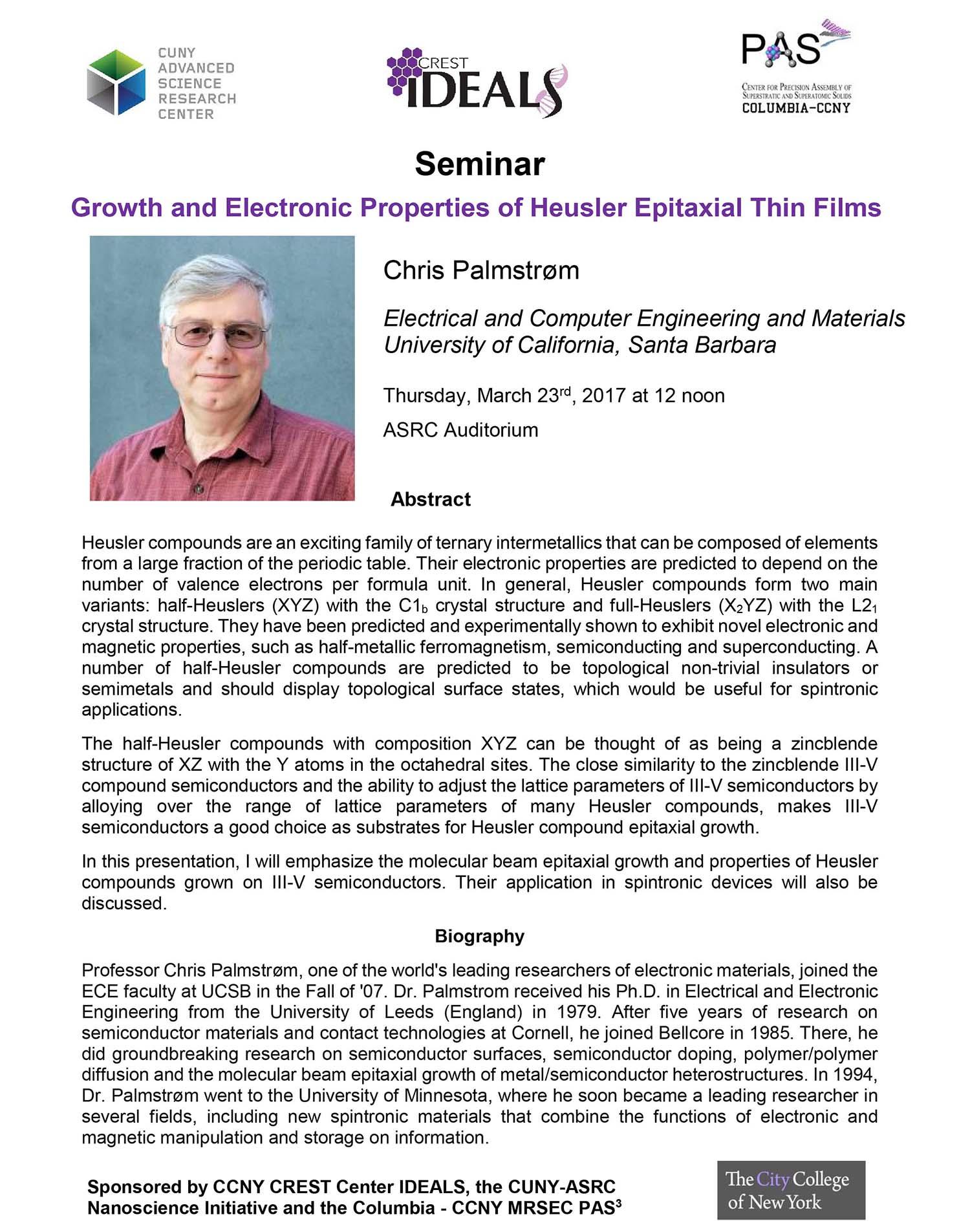 Chris Palmstrom Seminar