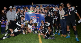 CCNY men's soccer team wins 2015 cunyac title