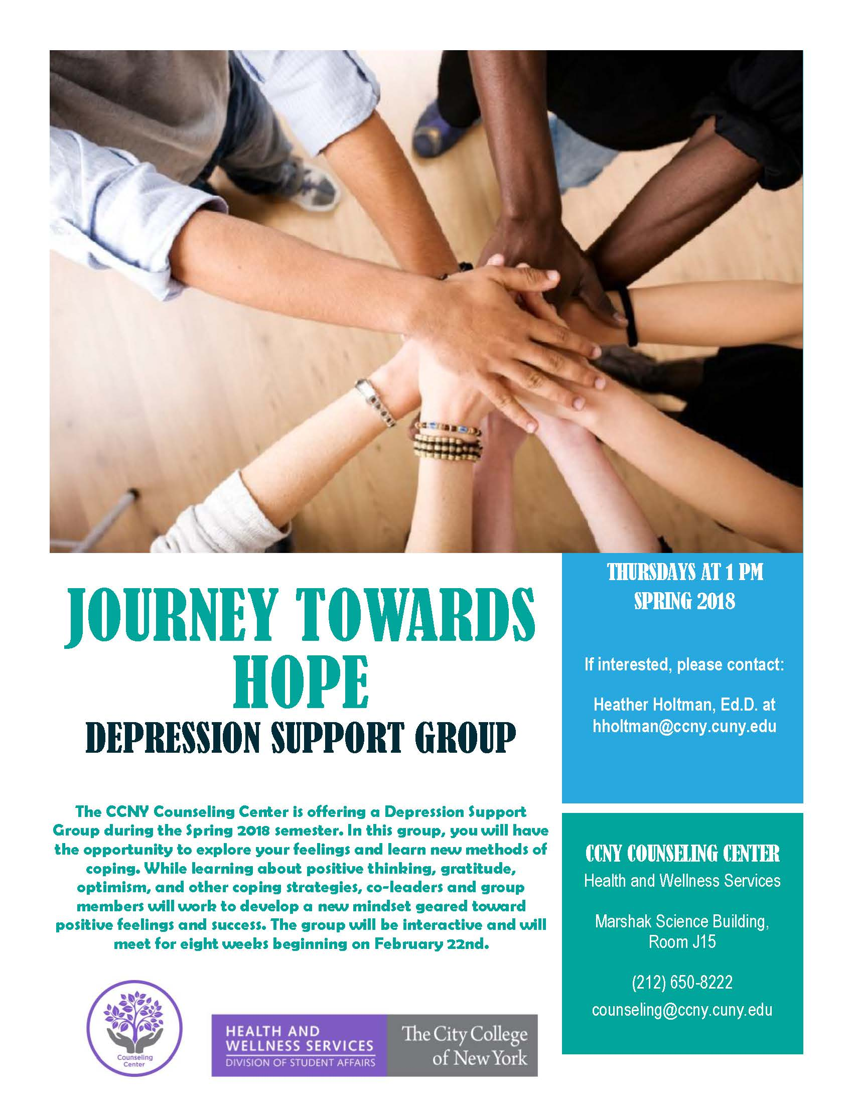 Depression Support Group Flyer - Spring 2018