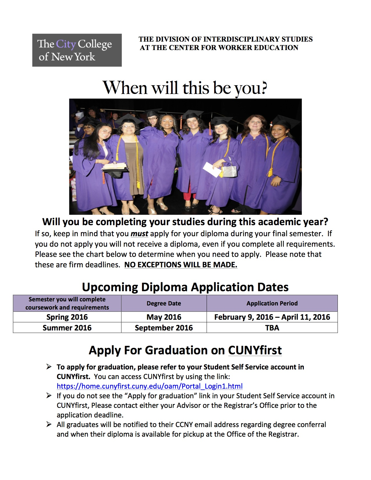 diploma application flyer jpeg jpg the city college  the city