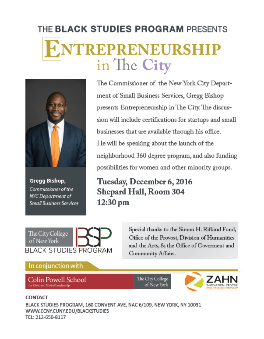 Entrepreneurship in the City with Gregg Bishop