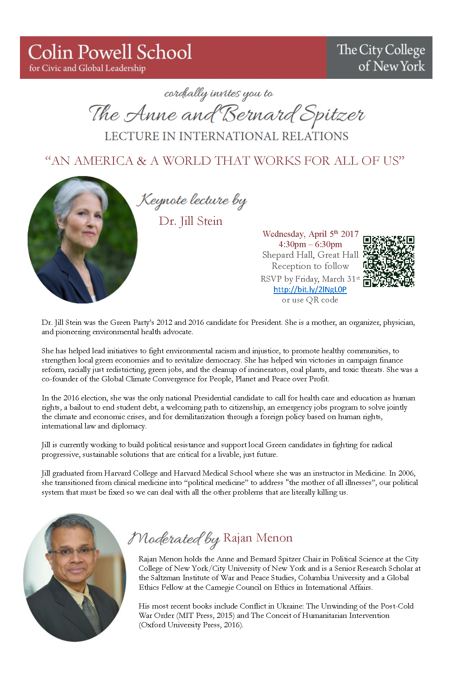 The 4th annual Anne and Bernard Spitzer Lecture featuring