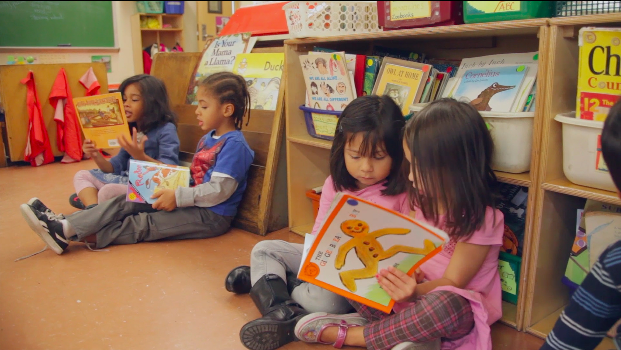 Still from Beverly Falk's Walking Alongside the Learner: Curriculum in Yvonne's Pre-K Classroom.