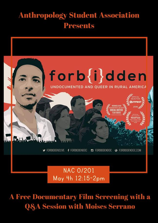 Flyer for Forbidden: Undocumented and Queer in Rural America