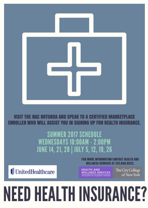 Do you need health insurance? Visit NAC June 14-28 and July 5-26