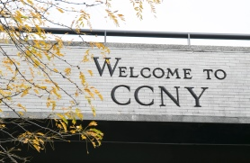 Sign reading Welcome to CCNY