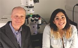 Dr. Andreas H. Kottmann and Lauren Malave, graduate student Parkinson's Disease researchers