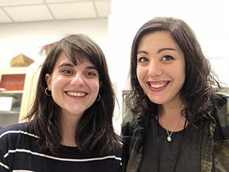 Lauren Malave and Julia Castello of City College