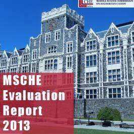 2013 MSCHE Evaluation Report
