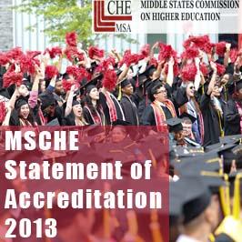 2013 MSCHE Statement of Accreditation