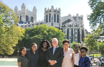 Dean Maurizio Trevisan with students