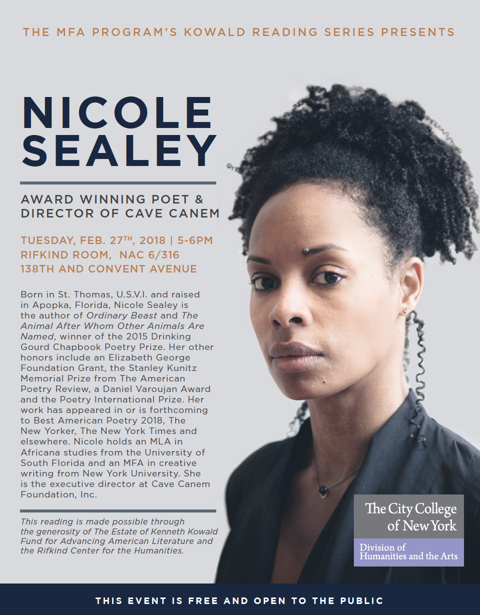 Nicole Sealey Reading