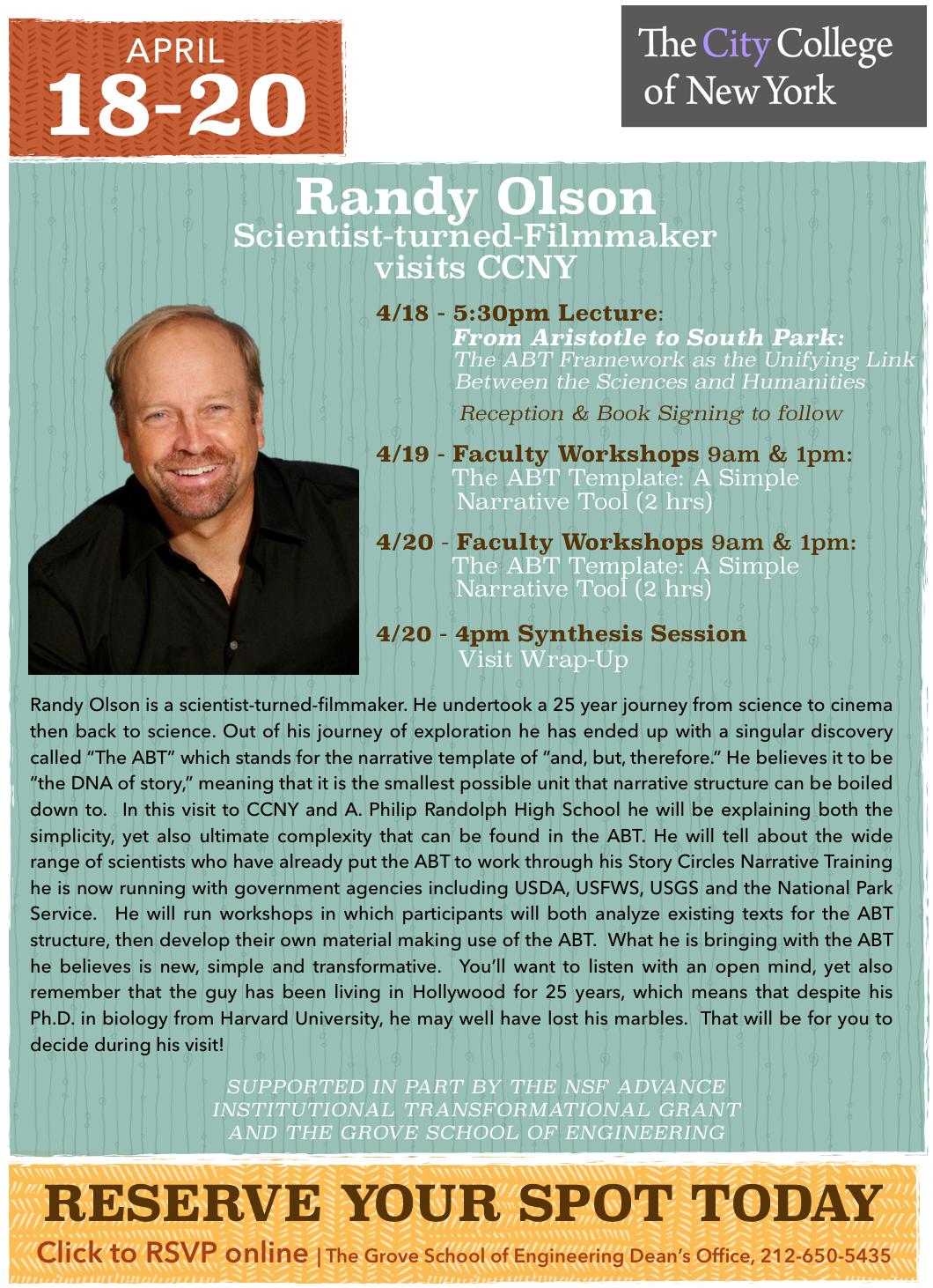 Randy Olson Visits CCNY