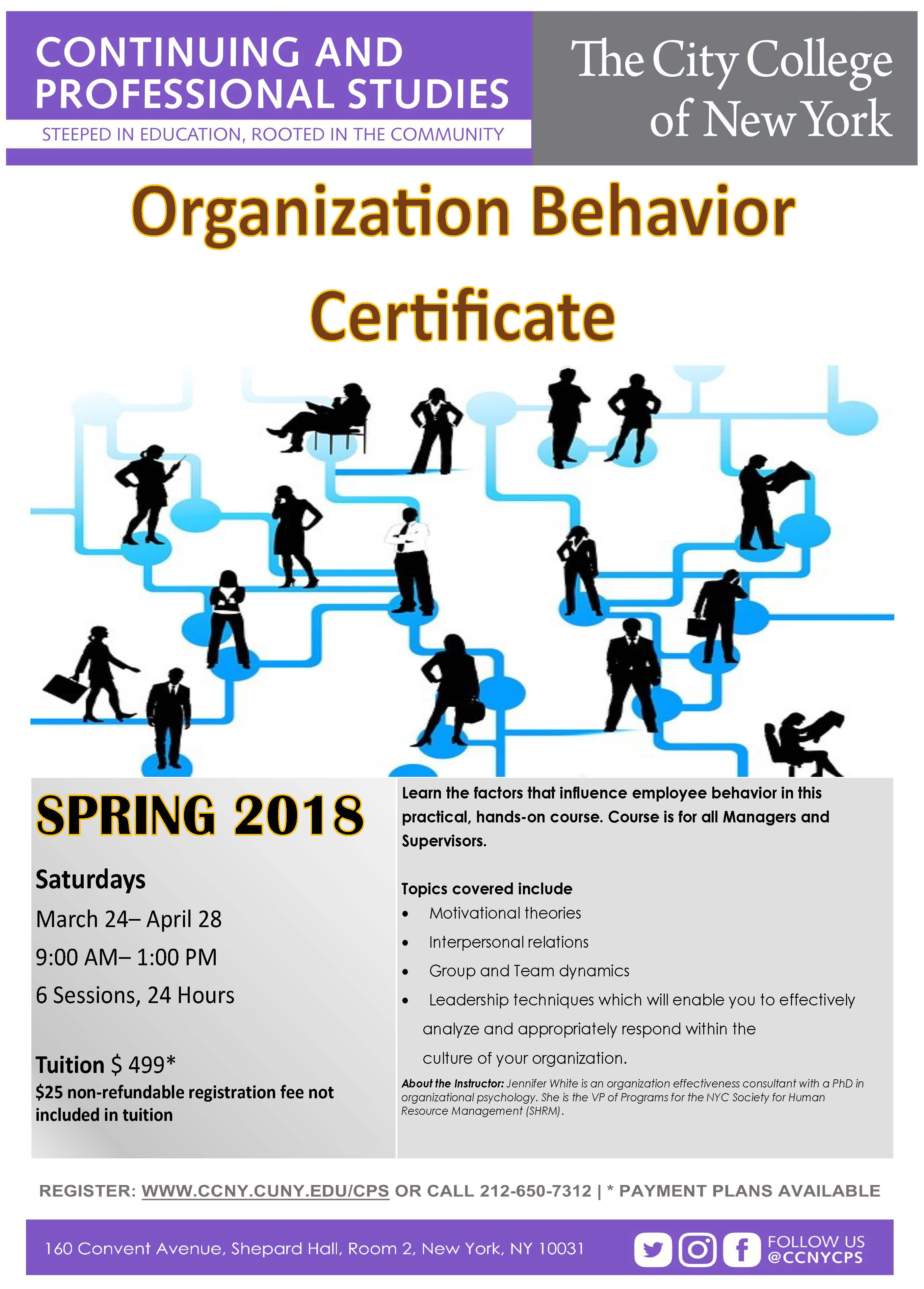 organisation and behavior The phd program in organizational behavior at stanford gsb emphasizes preparation for careers in scholarly research.