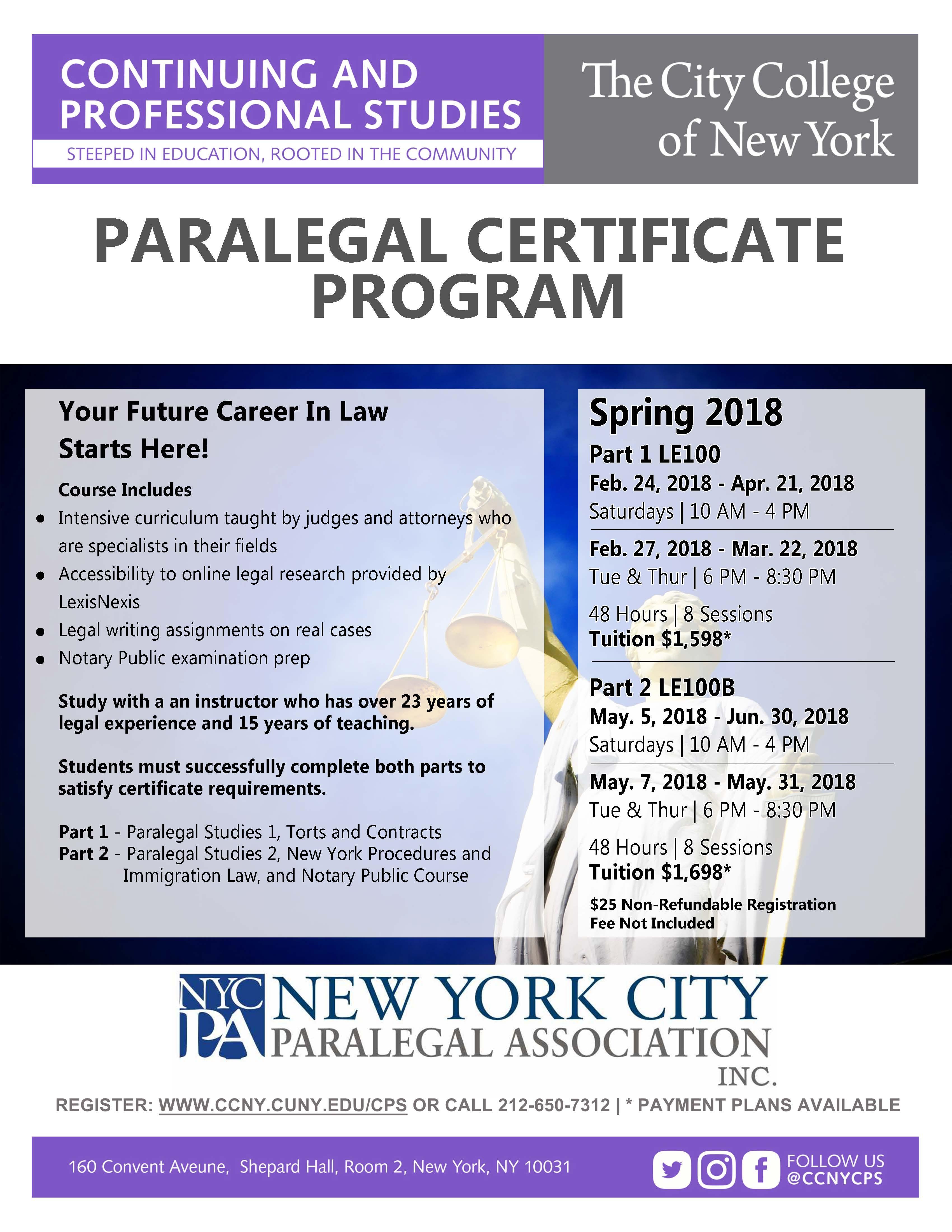 Paralegal studies certificate program the city college of new york paralegal studies certificate program student 2016 xflitez Choice Image