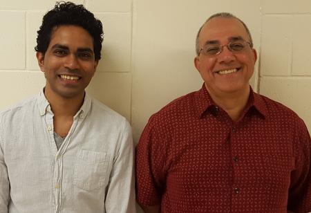 Mahesh Lakshman and Hari Akula HIV research team